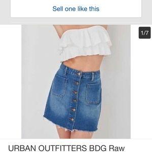 Urban Outfitters BDG Raw Hem Denim Skirt